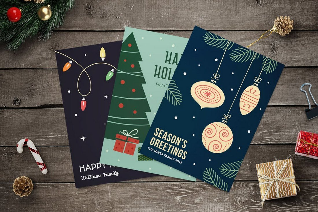 Christmas-Cards-Templates-Collection 20+ Best Christmas Card Templates for Photoshop design tips