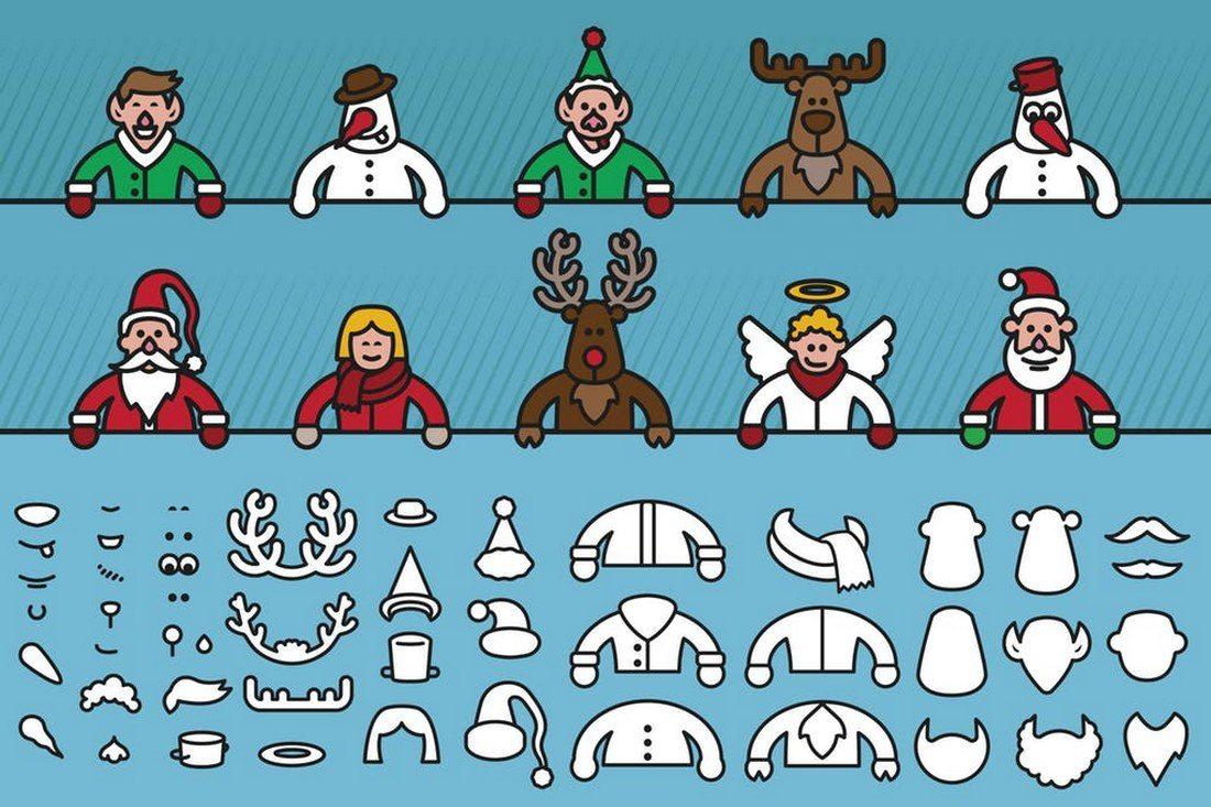 Christmas-Character-Creator 70+ Christmas Mockups, Icons, Graphics & Resources design tips