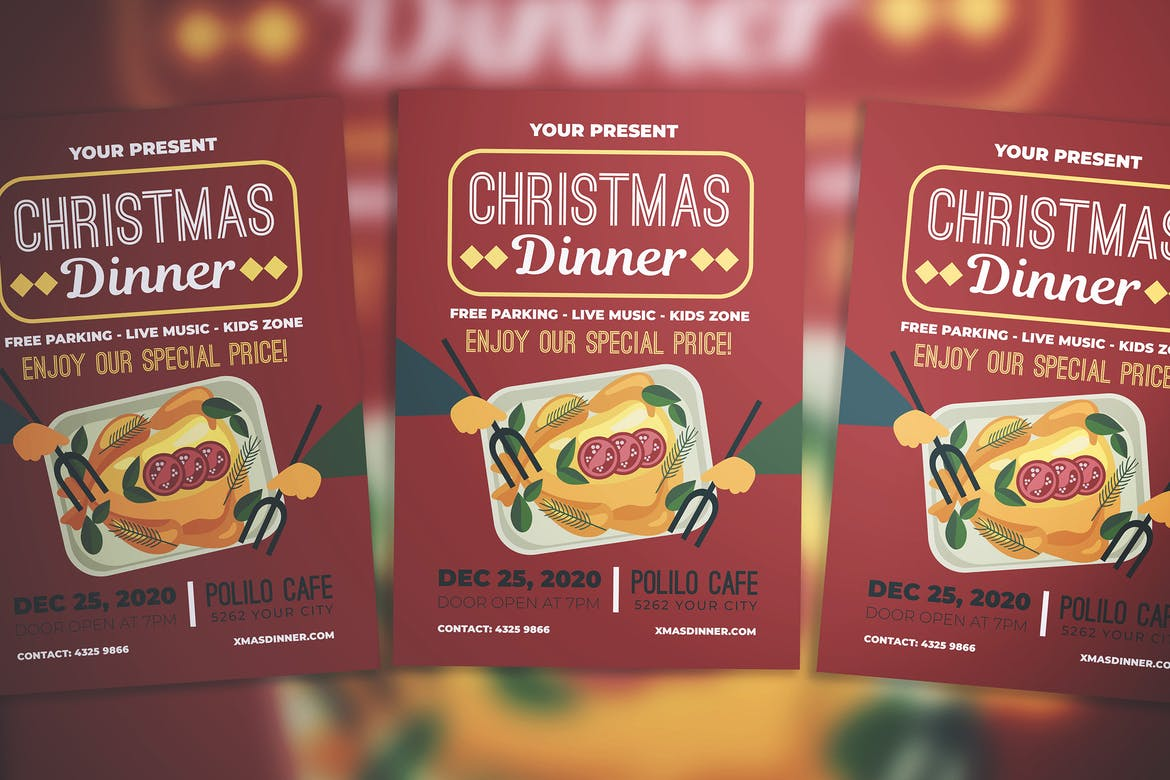 Christmas-Dinner-Party-Flyer 30+ Best Event Flyer Templates design tips