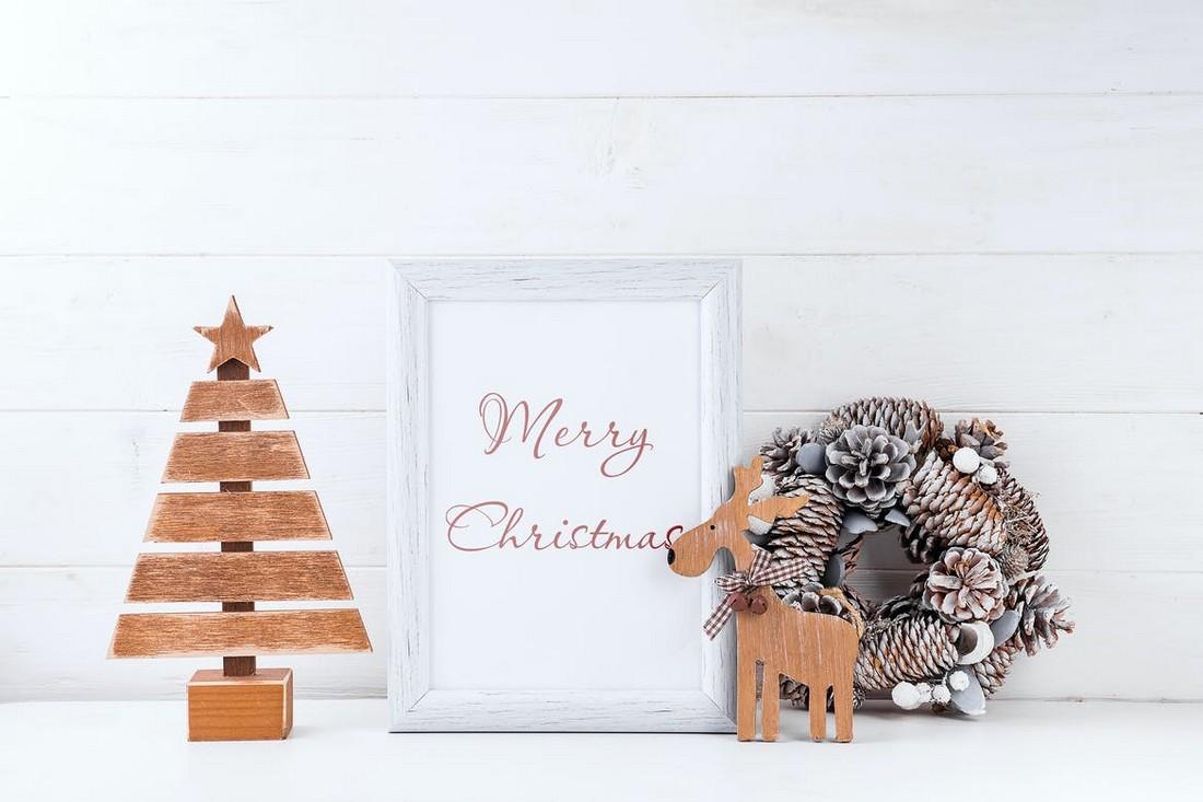Christmas Frame Mockup Template