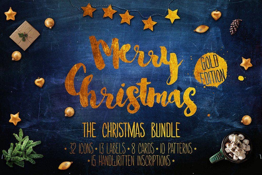 Christmas-Graphics-Bundle-Gold-Edition 70+ Christmas Mockups, Icons, Graphics & Resources design tips