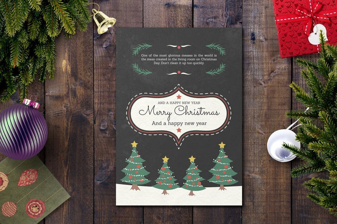 Christmas & Happy New Year Card Template