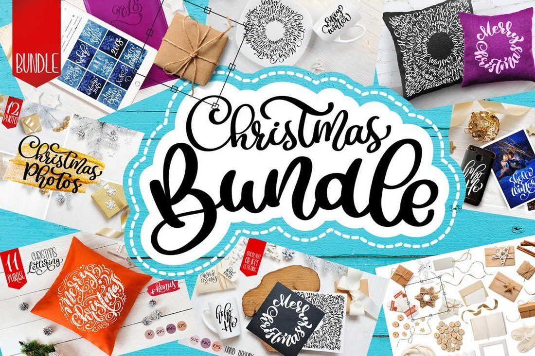 Christmas Overlays, Cliparts, & Graphics Bundle