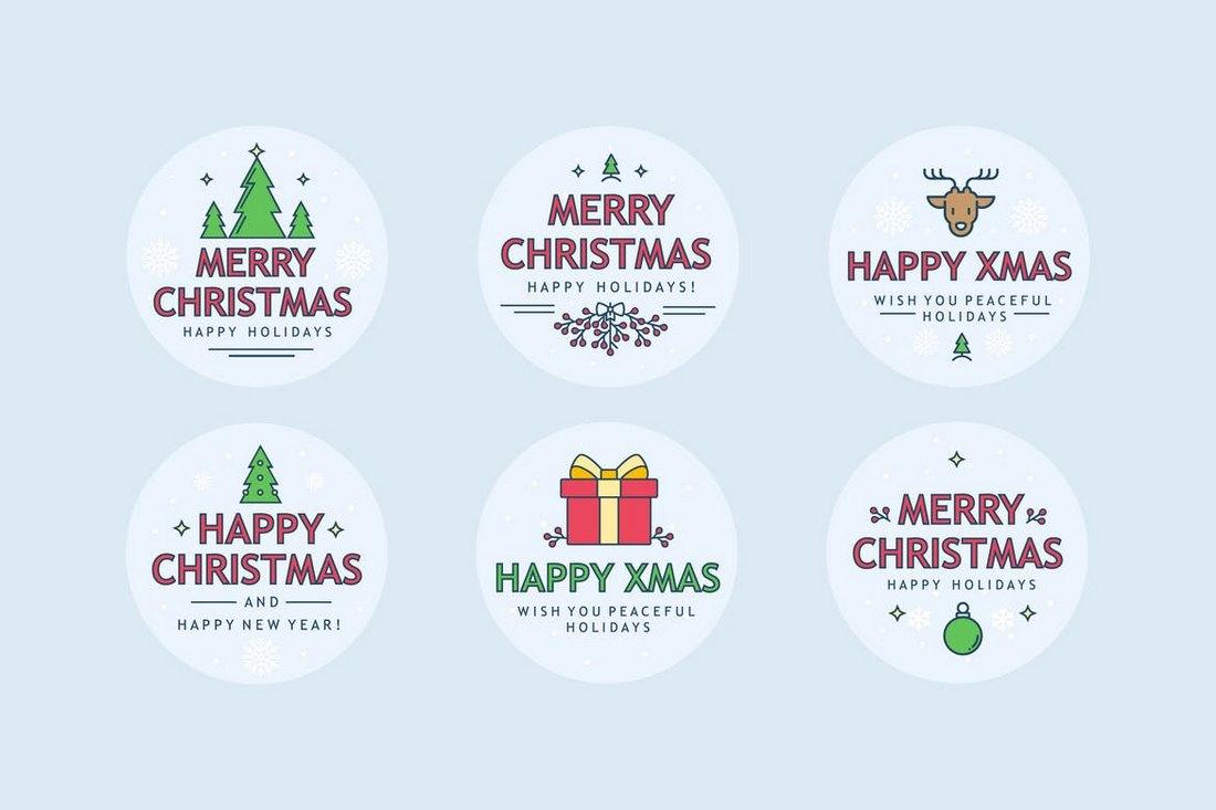 Christmas-Sharp-Badges 70+ Christmas Mockups, Icons, Graphics & Resources design tips