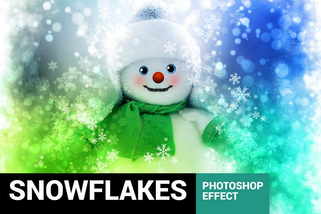 Christmas-Snowflakes-Photoshop-Action 15+ Christmas Photoshop Brushes, Actions & Text Effects design tips