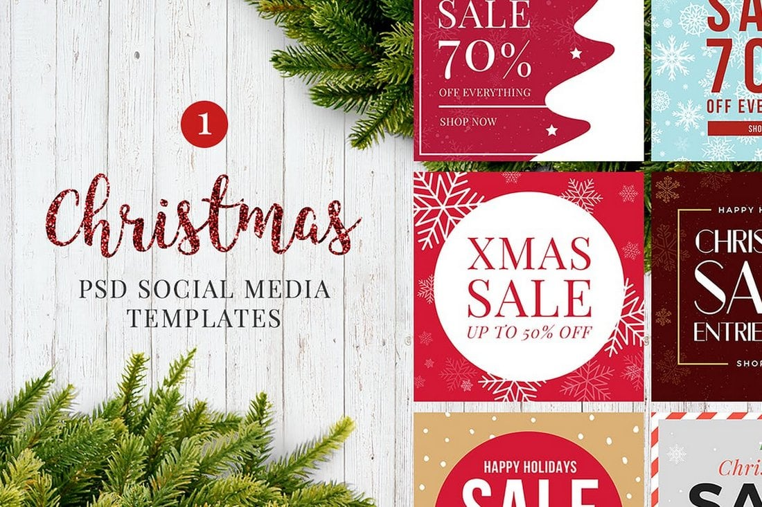 Christmas-Social-Media-Posts-1 40+ Best Social Media Kit Templates & Graphics design tips  Inspiration|facebook|social media|twitter