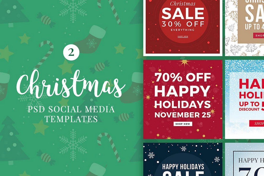 Christmas-Social-Media-Posts-V2 30+ Best Instagram Templates & Banners design tips