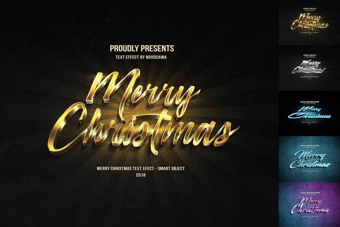 Christmas-Text-Effects 15+ Christmas Photoshop Brushes, Actions & Text Effects design tips