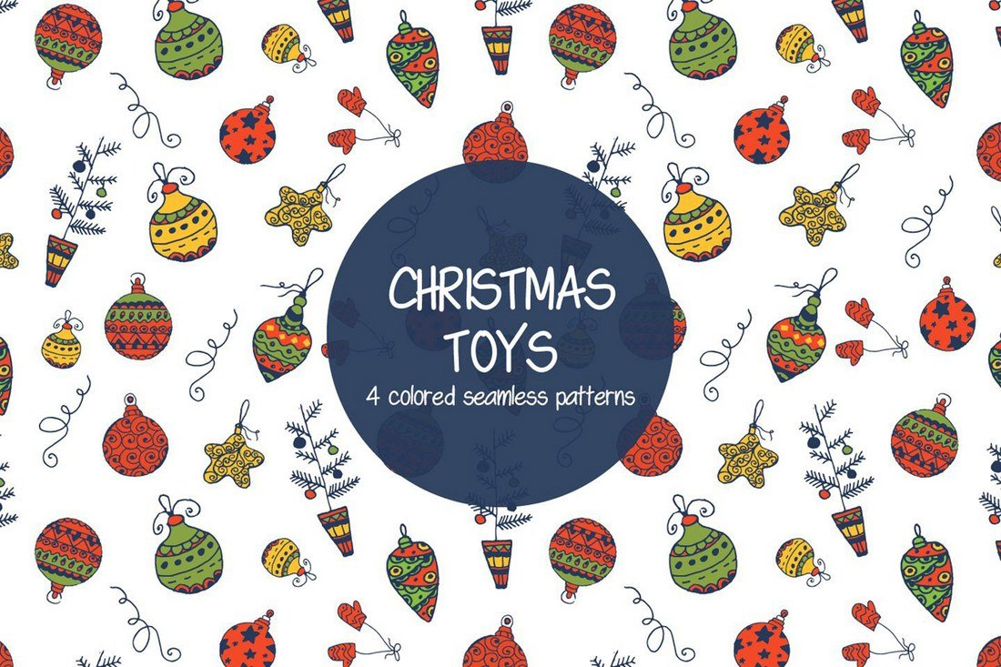 Christmas-Toys-Illustration-Vector-Free-Pattern 50+ Best Free Photoshop Patterns 2021 design tips