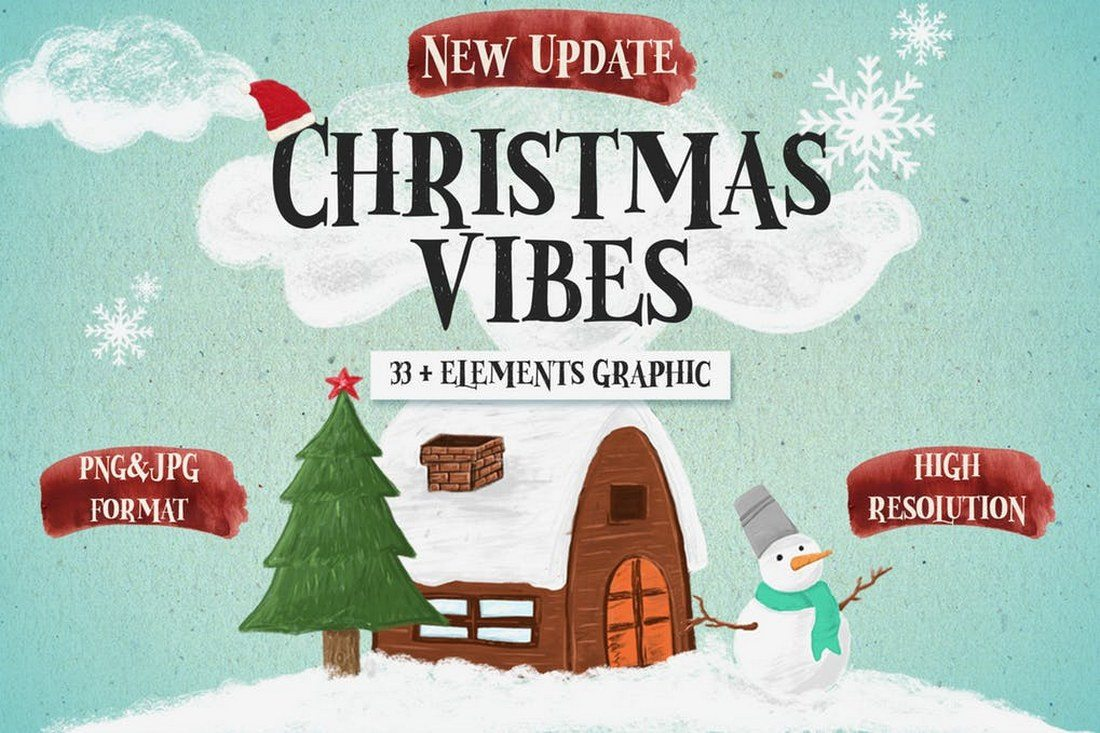 Christmas-Vibes-33-Elements-and-Graphics 70+ Christmas Mockups, Icons, Graphics & Resources design tips