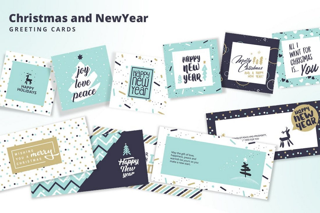 Christmas-and-New-Year%E2%80%99s-Greeting-Cards-Collection 70+ Christmas Mockups, Icons, Graphics & Resources design tips