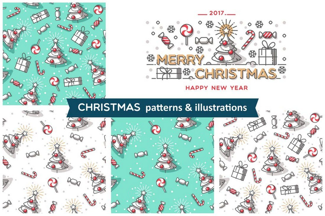 Christmas-patterns-illustrations 70+ Christmas Mockups, Icons, Graphics & Resources design tips