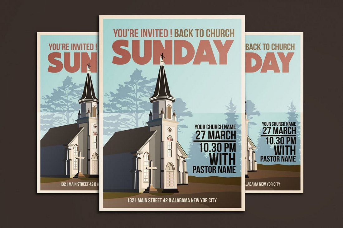 templates for church bulletins