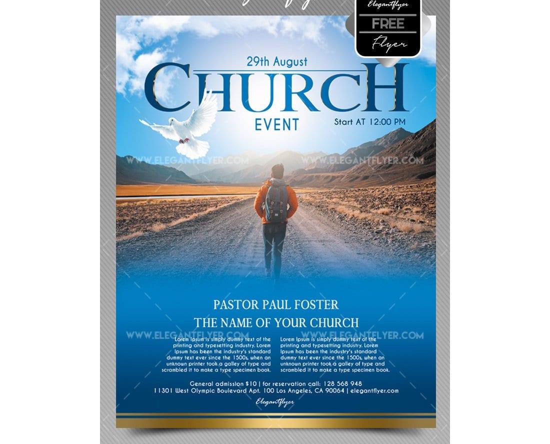 Church Event - Free Flyer PSD Template