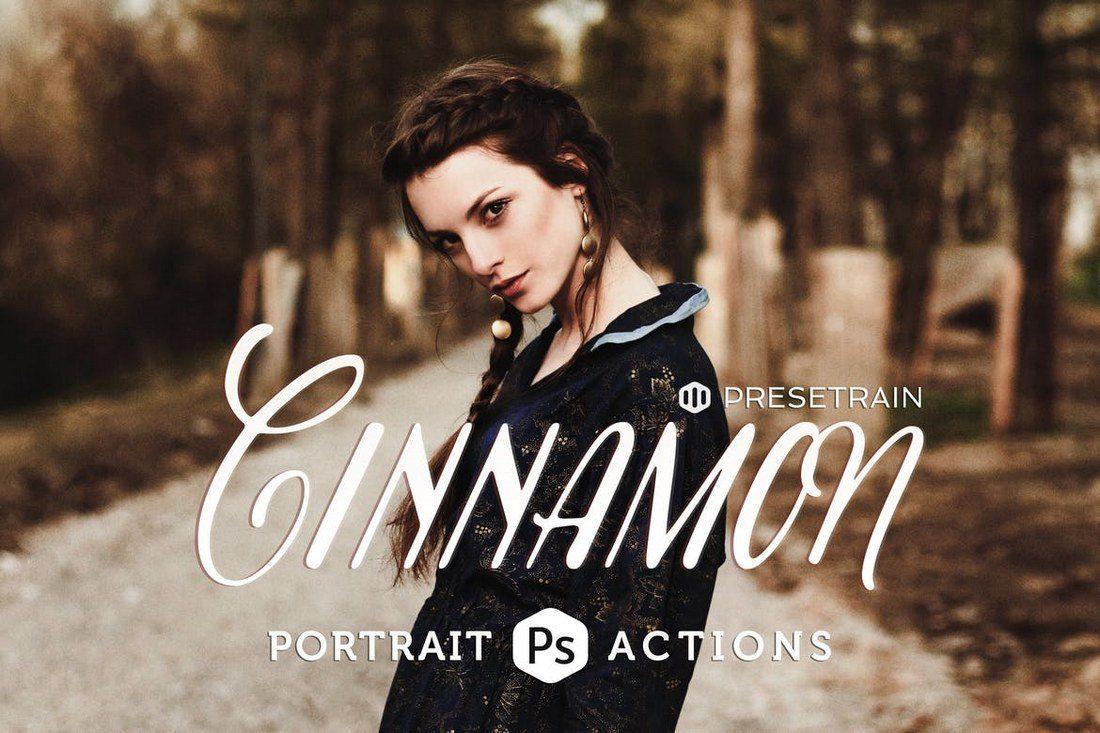 Cinnamon-Portrait-Actions 20+ Best Portrait Photoshop Actions design tips