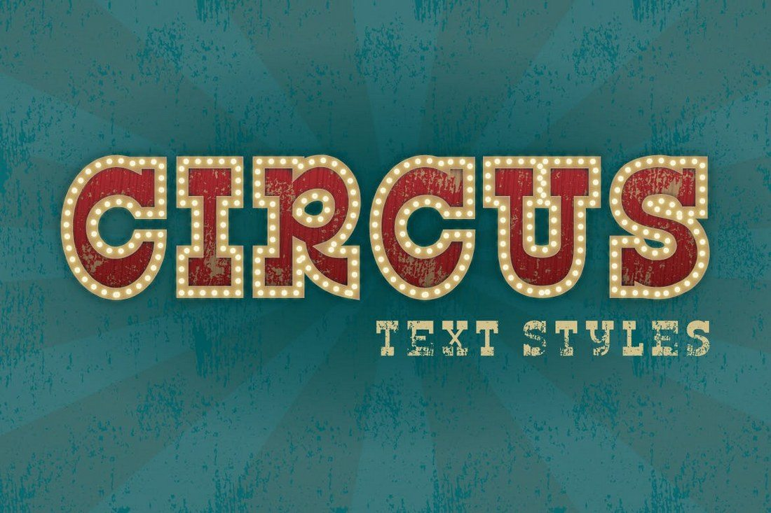 Circus-Text-Styles 30+ Best Retro Text Effects & Styles design tips