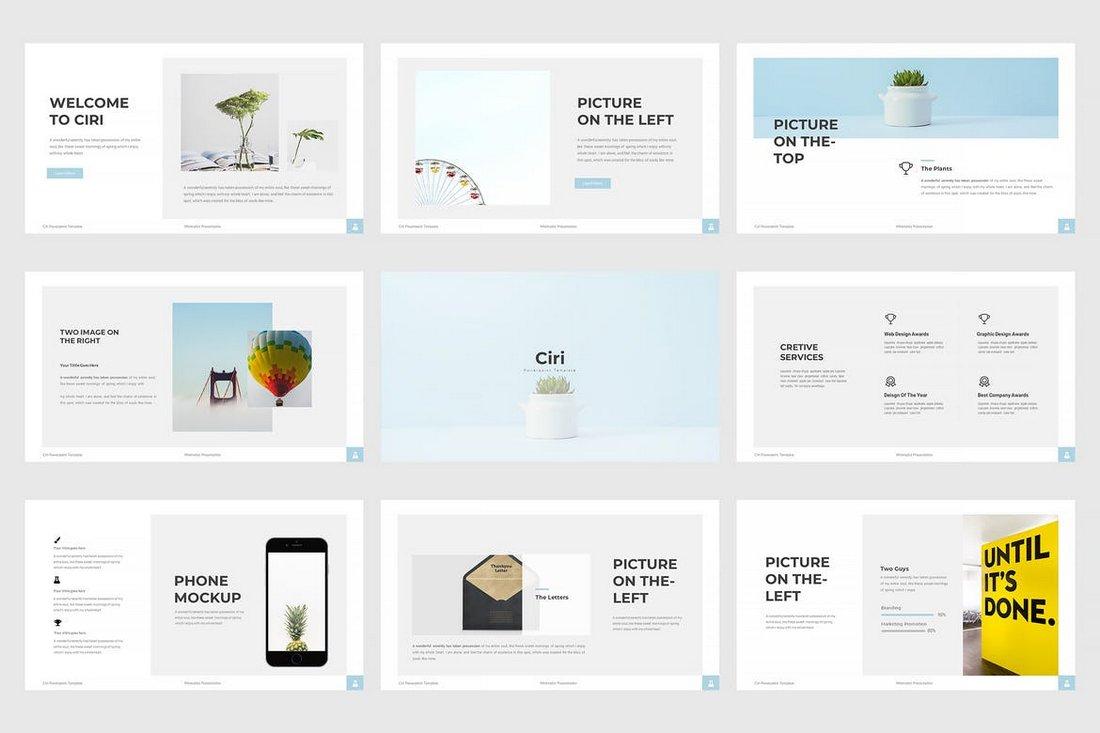 Ciri - Minimal Cool Powerpoint Template
