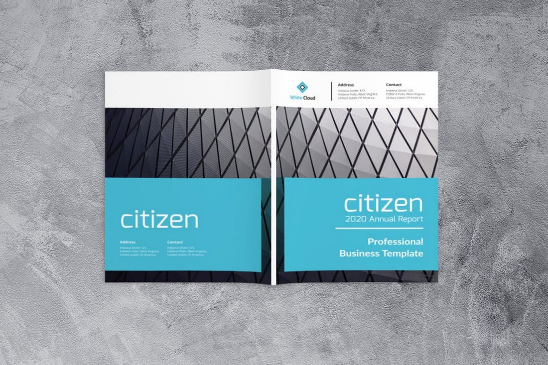Modèle commercial de rapport annuel de citoyen  20+ modèles de rapport annuel (Word & InDesign) 2019 Citizen Annual Report Business Template
