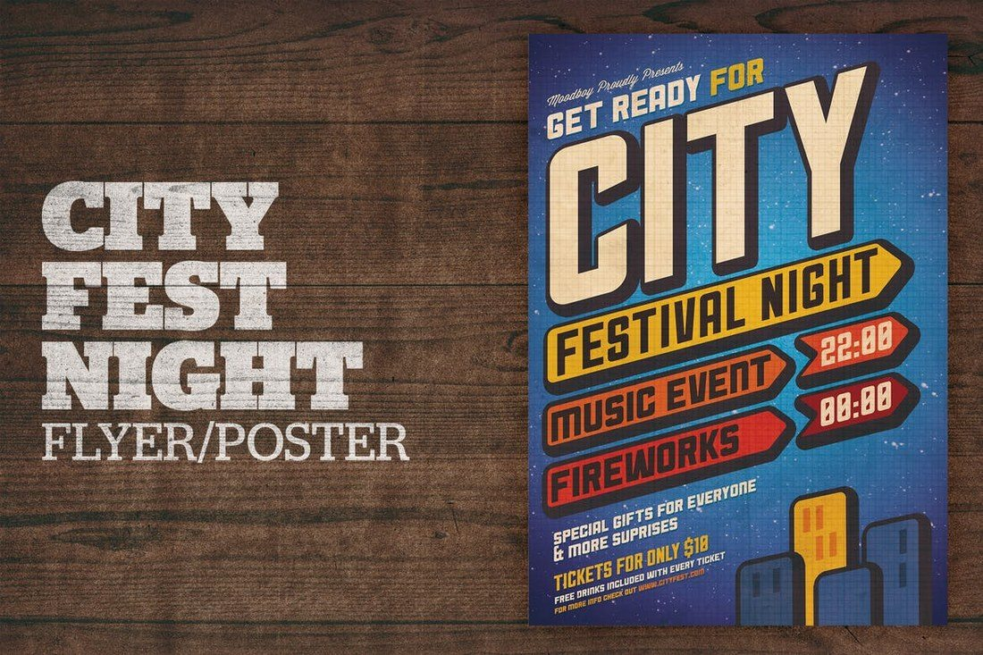 City-Festival-Night-Poster Typographic Posters: 100 Stunning Examples design tips