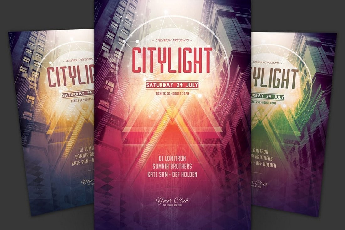City-Light-Club-Event-Flyer 20+ Best Club Flyer Templates design tips  Inspiration