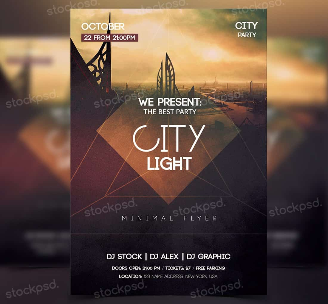 City Light - Free PSD Party Flyer
