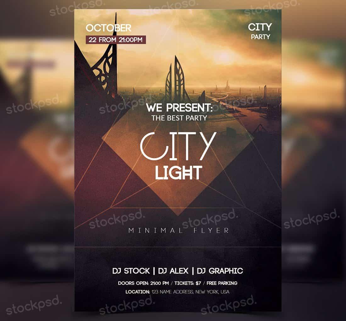 City Light - Free PSD Party Flyer