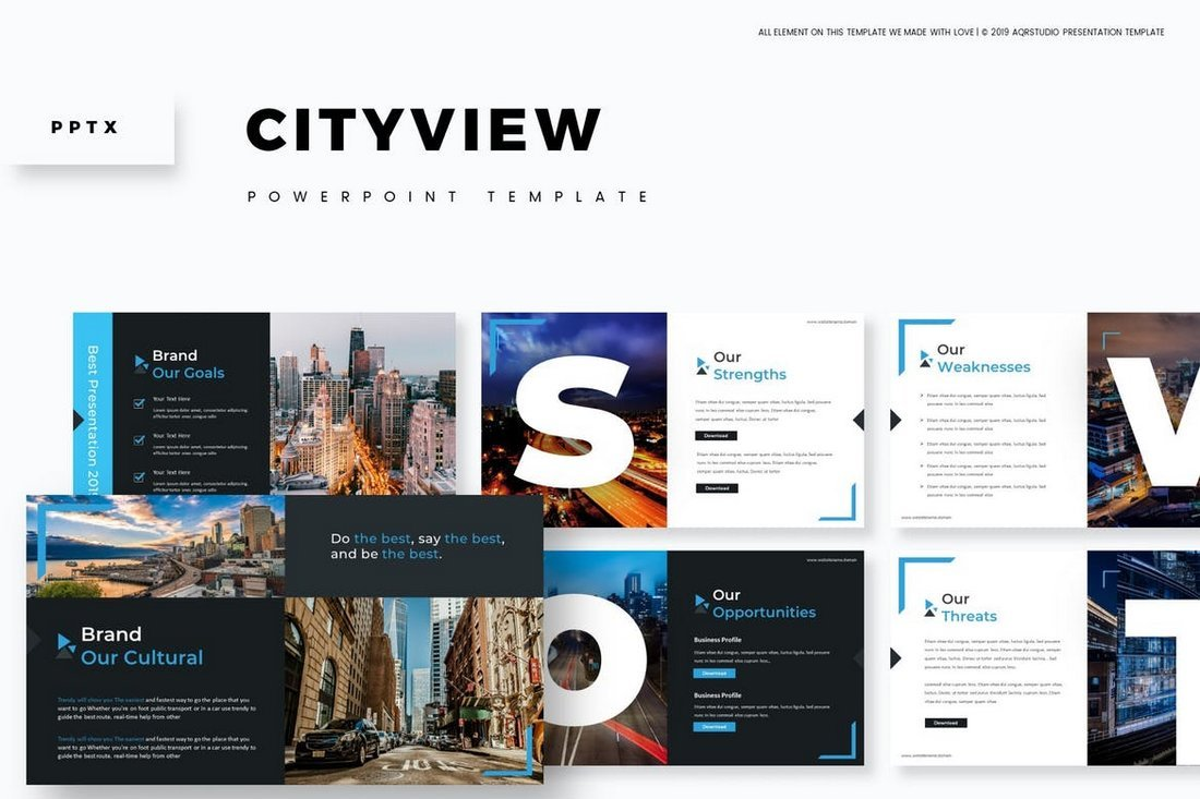 Cityview-Visual-Powerpoint-Template 30+ Animated PowerPoint Templates (Free + Premium) design tips