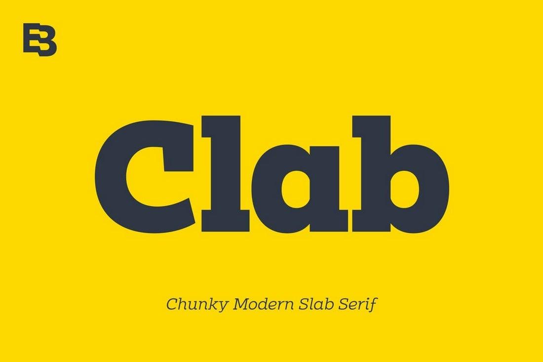 Clab - Creative Slab Serif Font
