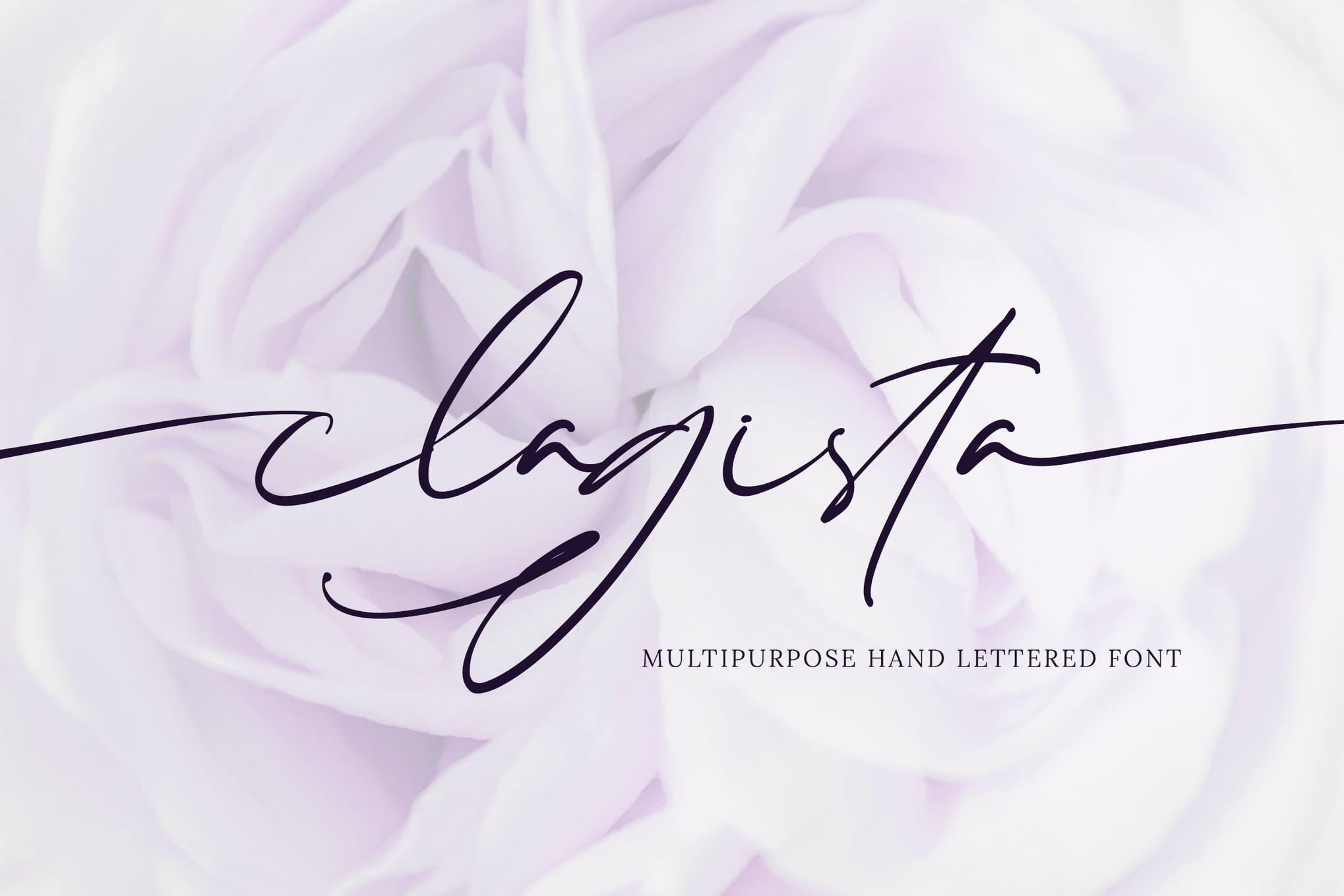 Clagista handwriting font
