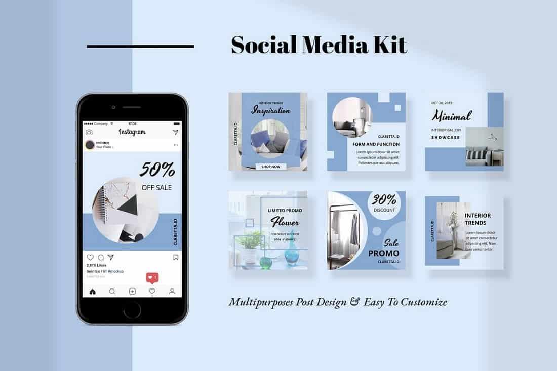 Claretta - Social Media Templates