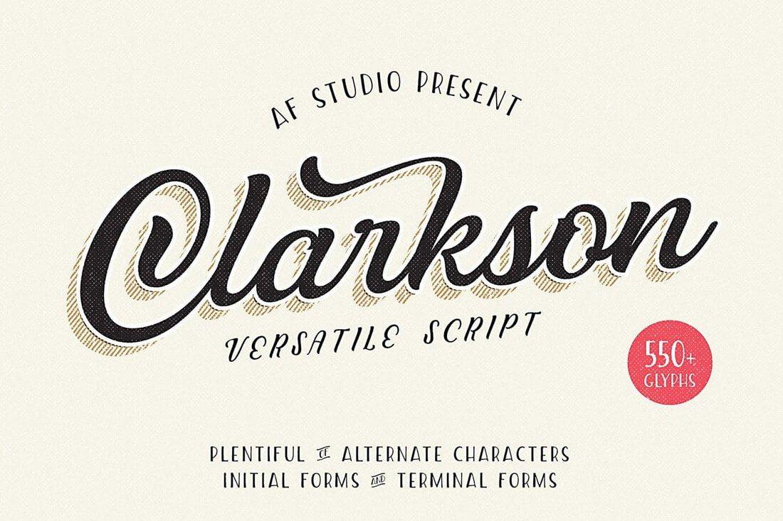 Clarkson-Script 60+ Best Big, Poster Fonts of 2019 design tips