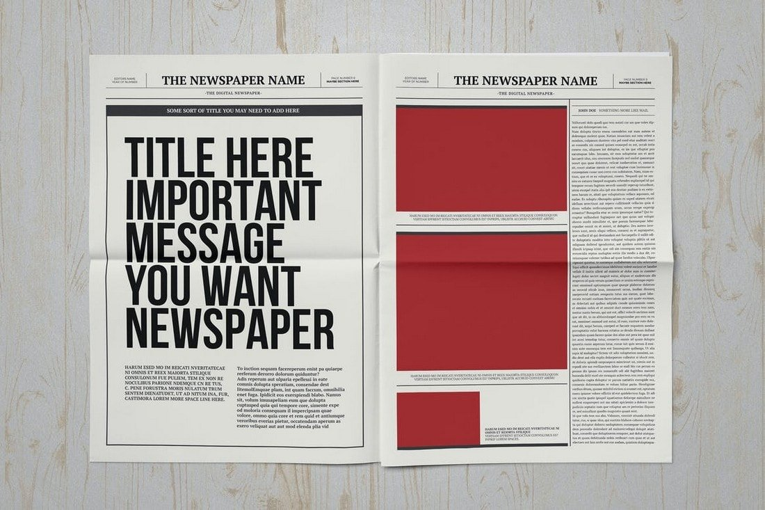 Classic A3 Newspaper Affinity Publisher Template