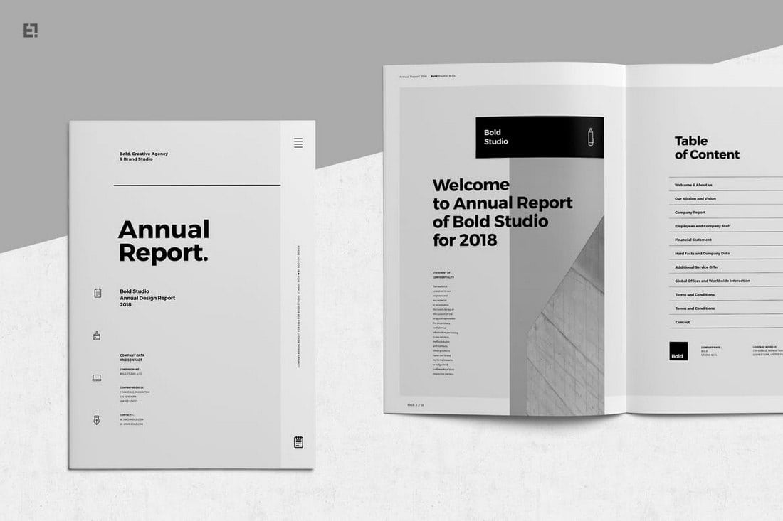Classic-Annual-Report-Template 20+ Annual Report Templates (Word & InDesign) 2018 design tips