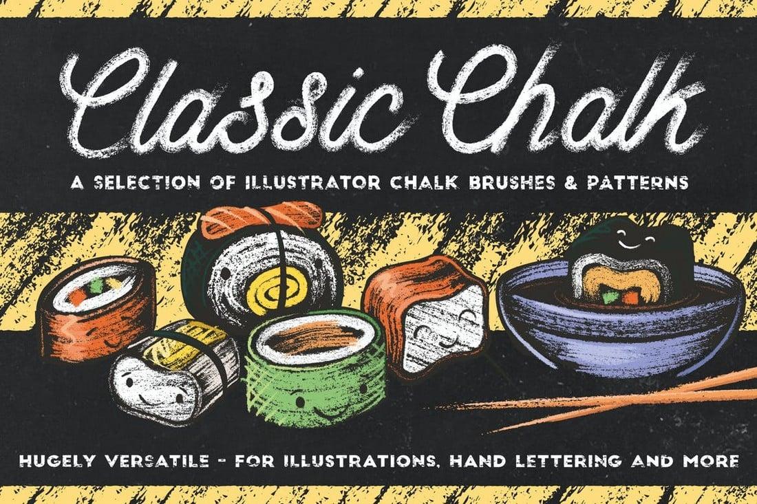 Classic-Chalk-Brushes-for-Affinity-Illustrator 15+ Best Affinity Designer Brushes design tips