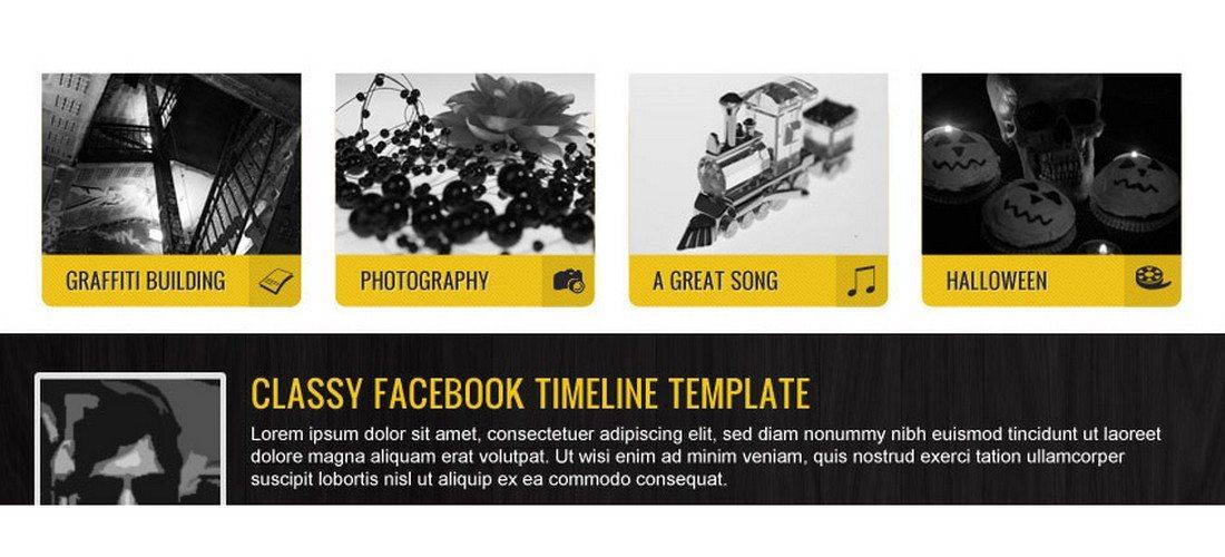 Classic-Facebook-Timeline-Template 20+ Best Facebook Cover & Post Mockups design tips