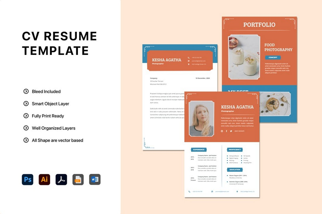 Classic MS Word CV Resume Template