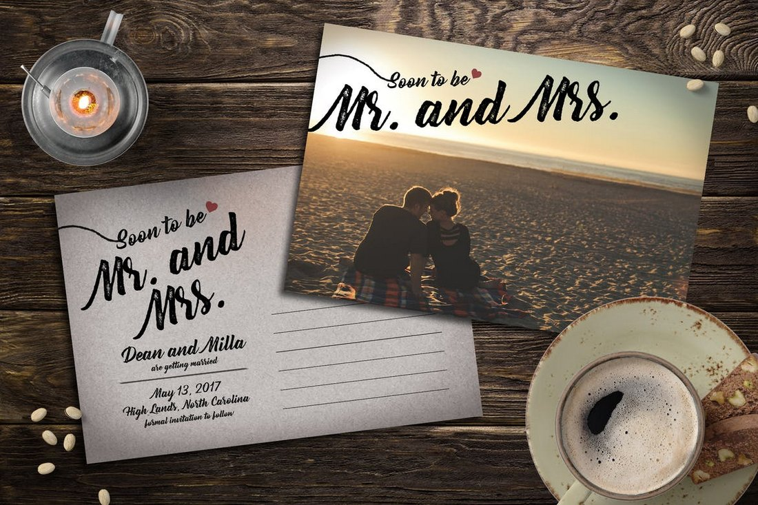 Classic-Save-the-Date-Post-Card-Template 15+ Gorgeous Save the Date Wedding Templates design tips