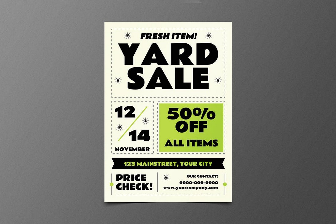 Classic Yard Sale Flyer Template