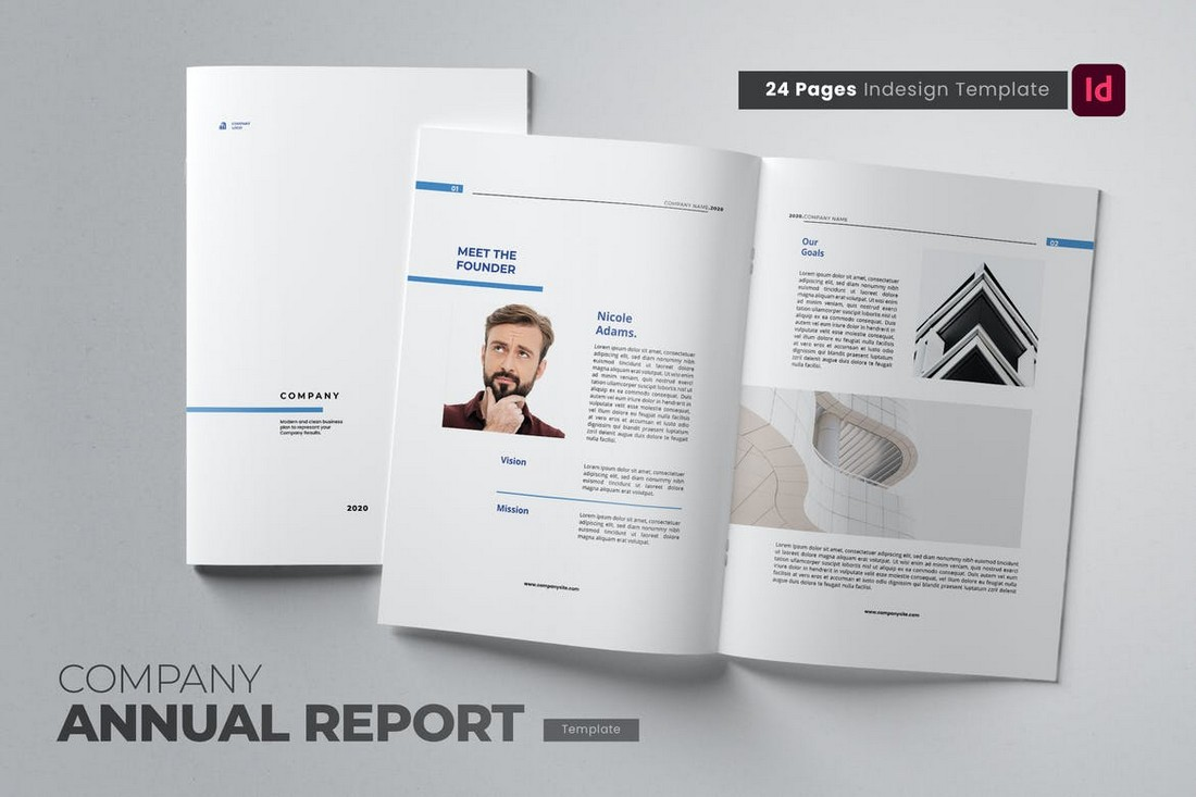 Clean Annual Report Template for Word