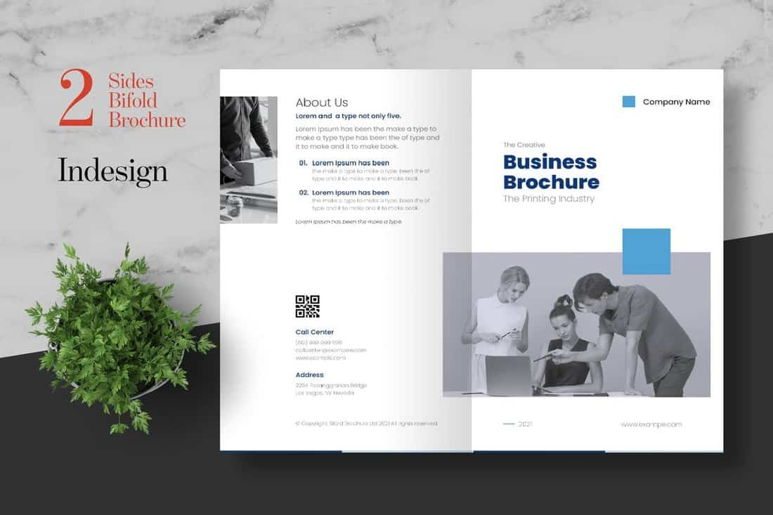 Clean Bifold Corporate Brochure