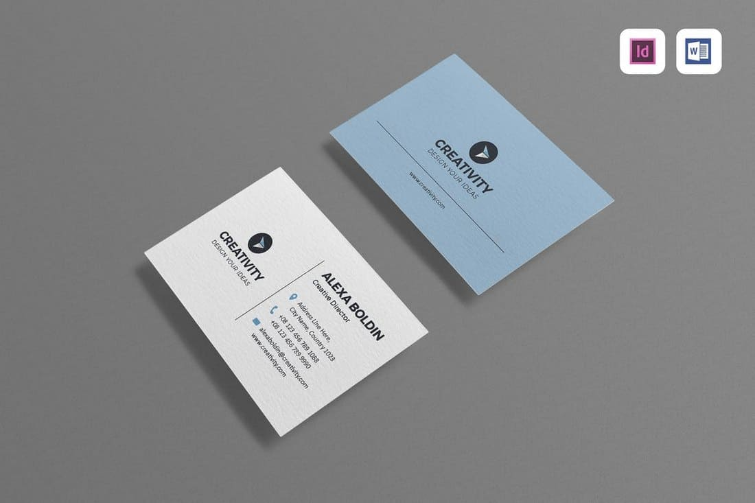 Clean Business Card Template (Word)