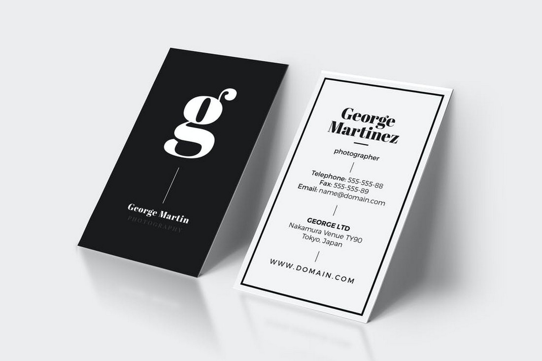 Clean Business Card With Minimal Design