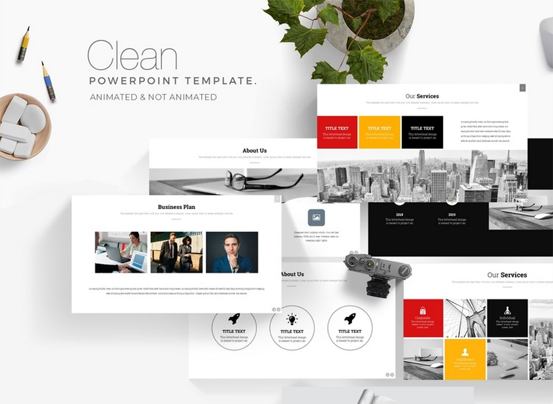 Clean Business - Free Keynote Template