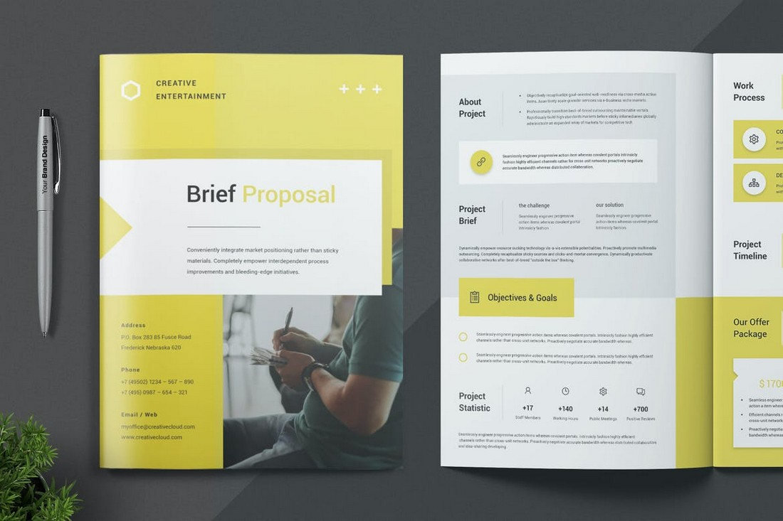 Clean Business Proposal InDesign Template