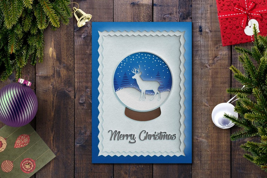 Clean-Christmas-Card-Template 20+ Best Christmas Card Templates for Photoshop design tips