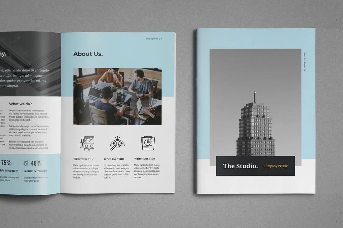Clean Company Profile Brochure Template