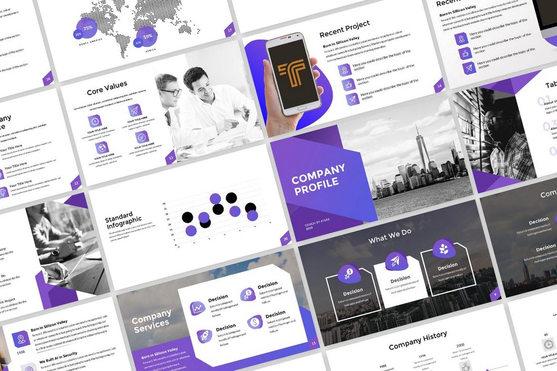 Clean-Company-Profile-Presentation 20+ Best Company Profile Templates (Word + PowerPoint) design tips  Inspiration|company profile