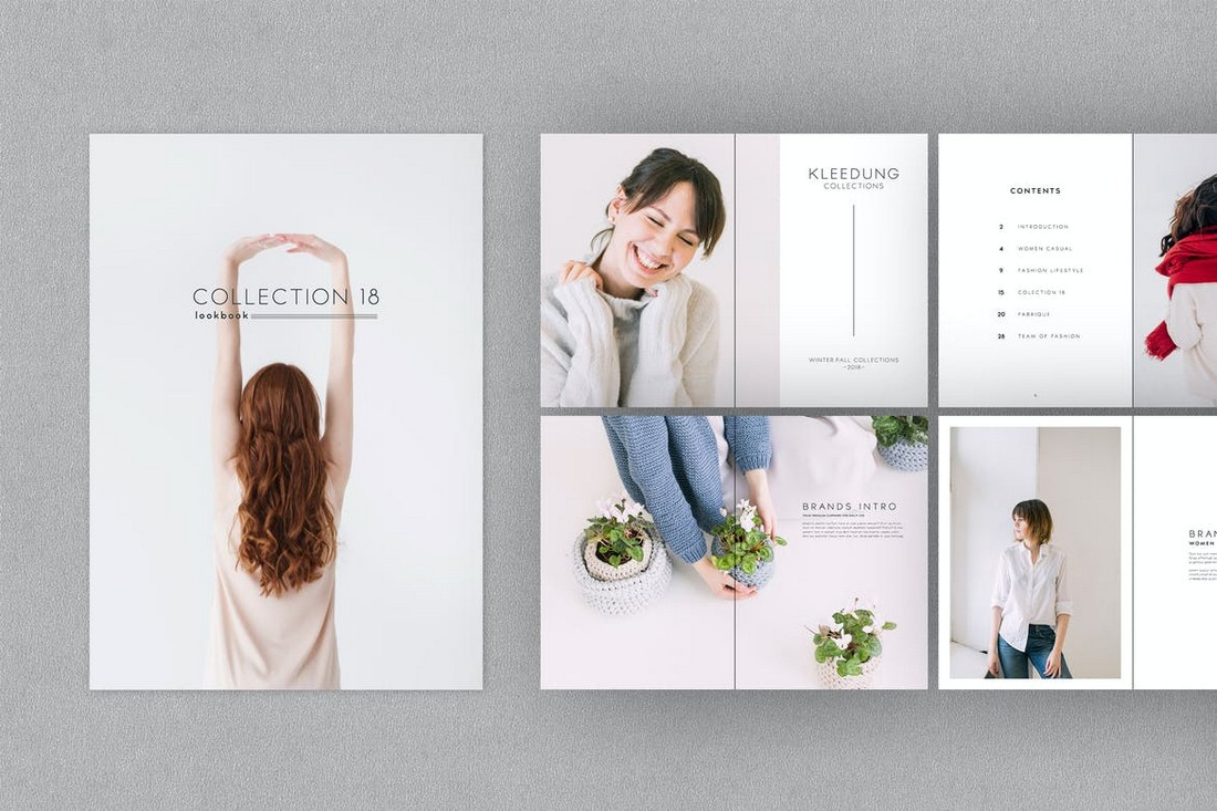 Clean Design Lookbook Template
