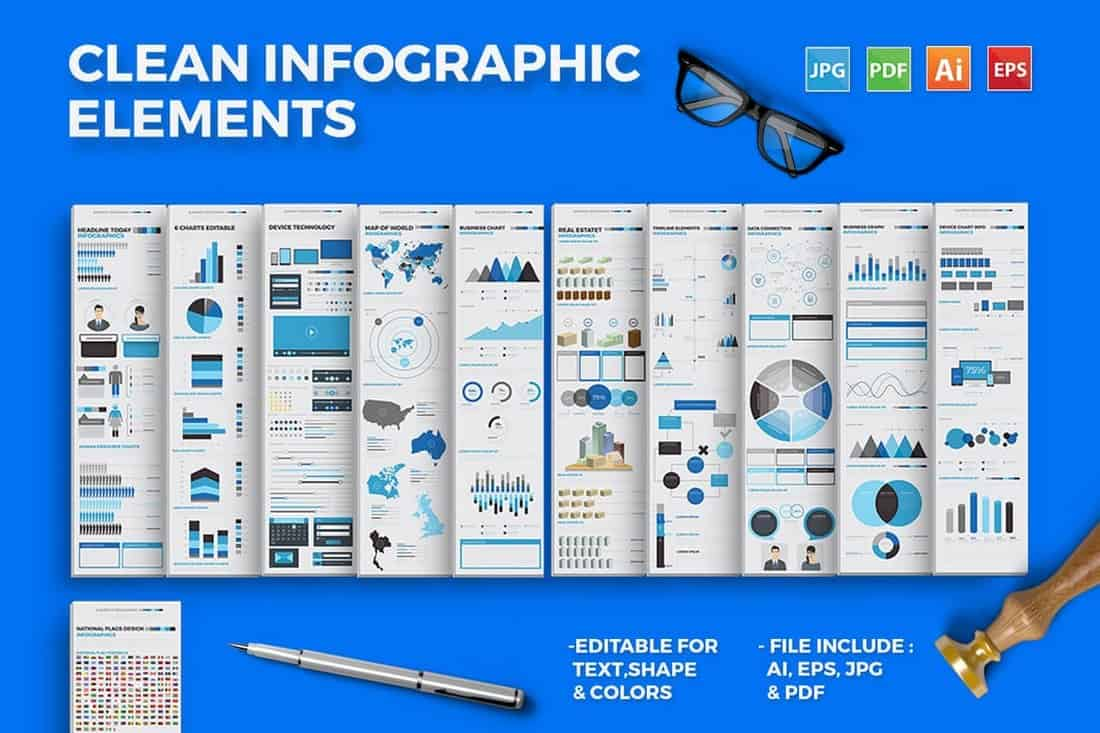 Clean Infographic Elements