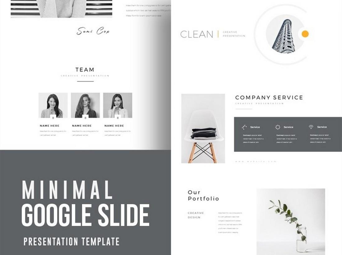 Clean & Minimal - Free Google Slide Template
